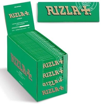 Rizla Green Single Easy Smoking Cigarette Tobacco Rolling Medium Papers Packs