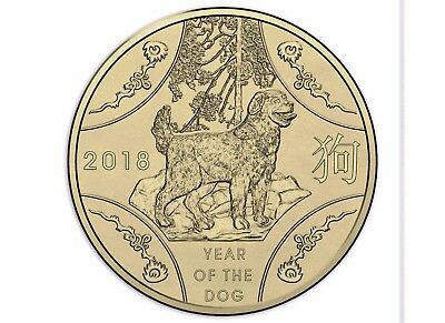 2018 Australia Lunar Series $1 Uncirculated Coin - Year of the Dog