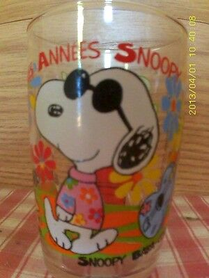 Verre A Moutarde Amora  Les Annees 60 Snoopy Baba Cool
