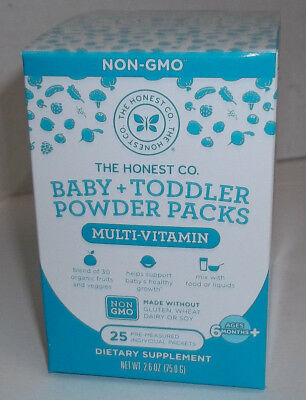 The Honest Company Baby + Toddler Multi Powder 25 packets Non GMO Exp. 01/2019