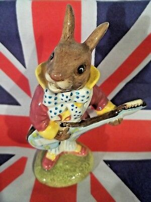 British Invasion Mr. Bunnybeat Bunnykins  Guitar Player Royal Doulton Figurine