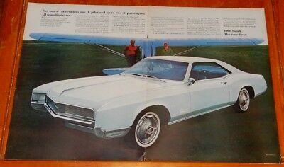 1966 BUICK RIVIERA  LARGE CLASSIC AD - VINTAGE 60s AMERICAN GM RETRO AUTO OLDIE