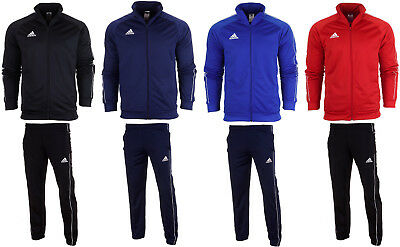 Adidas Core 18 Mens full tracksuit Top Track Jacket Bottoms Pants Training