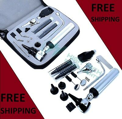 Professional Grade ENT (Ear,Nose &Throat) Diagnostic,Otoscope,Ophthalmoscope set