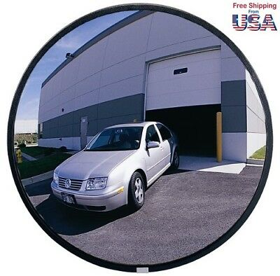 See All NO5 Circular Glass Heavy Duty Outdoor Convex Security Mirror,