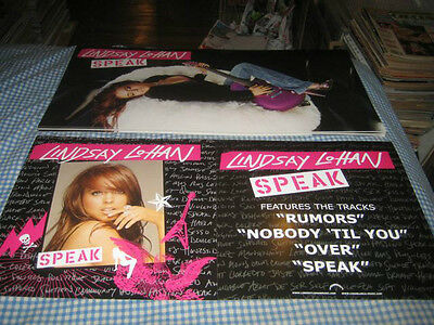 LINDSAY LOHAN-(speak)-1 POSTER FLAT-2 SIDED-12X24-NMINT-RARE