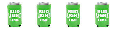 4 Pack New REAL DEAL Bud Light Lime CAN Koozie Coozie Coolie Michelob Ultra