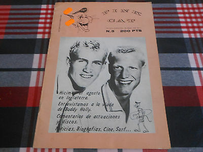 Fanzine Pink Cat 1986 Buddy Holly Jerry Lee Lewis Surf Spain Spanish Rockabilly