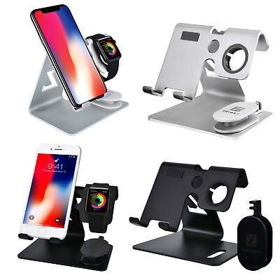 3 IN 1 Alloy Charging Dock Station Holder Stand For Apple Watch iWatch iPhone