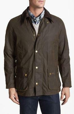 NWOT Barbour Men's Olive ASHBY Waxed Jacket  sz XL