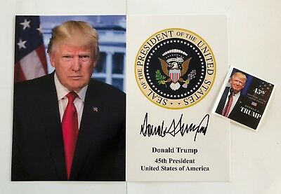 """President Trump Seal..8 1/2""""x11 on Card Stock... Photo Portrait Picture + Decal"""
