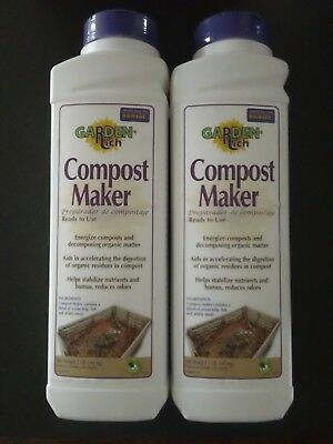 Lot of (2) 1 lb Packages of Bonide Products Inc Garden Rich Compost Maker # 677