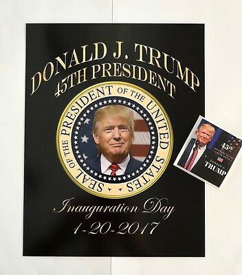 """45th President Trump 8 1/2""""x11 on Card Stock Photo Portrait Picture +Decal"""