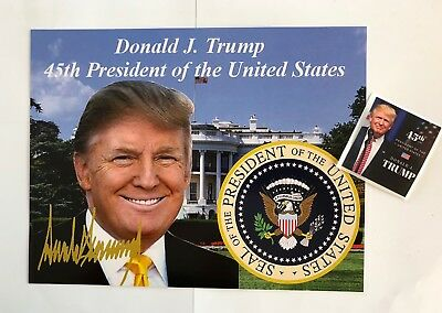 """Donald Trump 45th President 81/2""""x11 on Card Stock Photo Portrait Picture +Decal"""