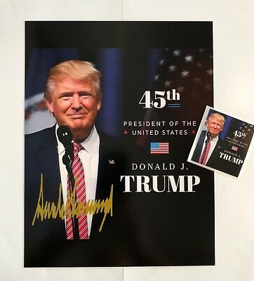 """President Donald Trump 8 1/2"""" x 11 on Card Stock.. Photo Portrait Picture +Decal"""