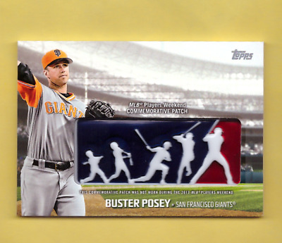 cd2857ee512 2018 Topps BUSTER POSEY MLB Players Weekend Logo Patch Commemorative SP  Retail