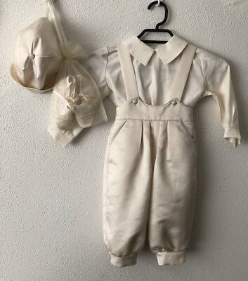 Vintage Boy's Christening Outfit 4 Pieces Size1 Made In Australia 60's 70's Used