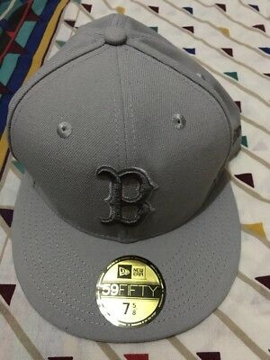 Men's 59Fifty Boston Red Sox Franchise Grey Fitted Hat- New