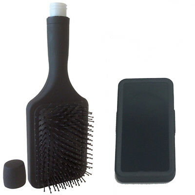 Smuggle Your Alcohol Hairbrush and Phone Flask Combo
