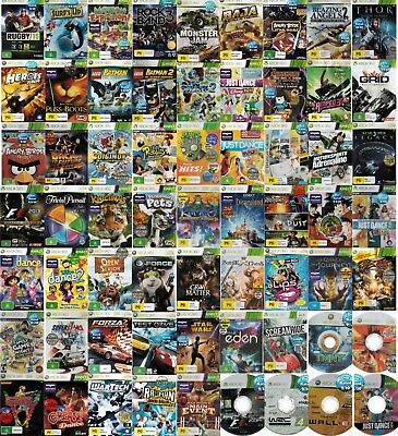 💚 Microsoft XBOX 360 ●● ASSORTED GAME TITLES Rated G & PG  ●● Your Choice 20/02