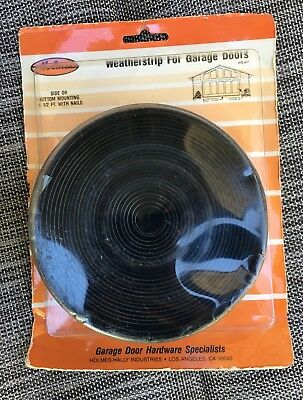 Holmes 16' Weatherstrip Weather Seal Kit for Garage Door Bottom or Sides Nail-On