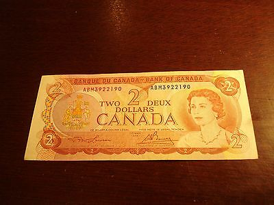 1974 - Bank of Canada $2 note - two dollar bill - ABM3922190