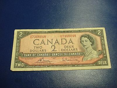 1954 - Bank of Canada $2 note - two dollar bill - CG7308048