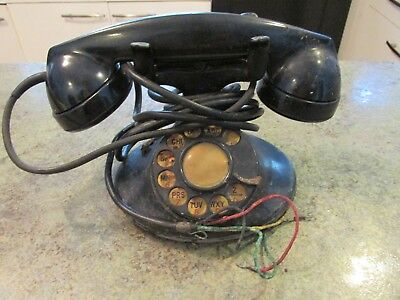 Bakelite Vintage Bell System Western Electric F1 Rotary Dial Telephone Phone
