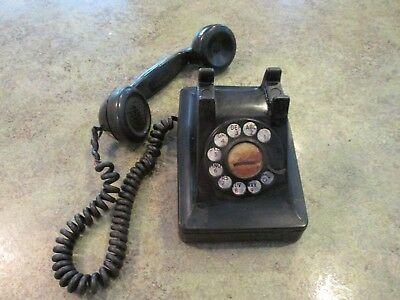 Bakelite Vintage Bell System Western Electric F4 Rotary Dial Telephone Phone