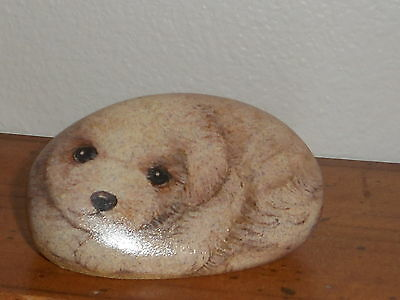 Bichon Frise Paperweight Faux Rock  So Cute