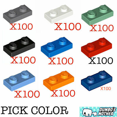 100/% Lego 2x2 Stud Plate Various Colors You Pick Black White Red Green Blue Tan