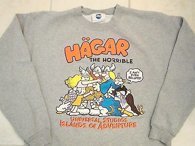 Vintage Hagar The Horrible Comic Strip Book Islands Cute Crew-Neck Sweatshirt M