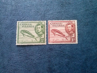 Cayman Islands 1938-43 Kgvi  Dolphin Scott# 101-108  Mlh