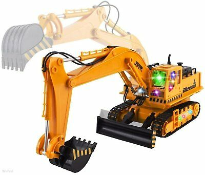 RC Excavator Tractor Toy Construction Vehicles 11 Channel Truck Metal Shovel USA