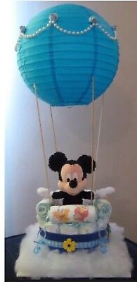Handmade Hot Air Balloon Diaper Cake Baby Shower~Boy/Girl🎀🐳👶🏻~ Made To Order