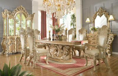 Homey Design HD-7012 French Provincial Dining Room Set for total 10 pieces