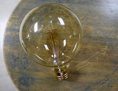 Edison Bulb - G30 Spiral Filament, 30 Watt Incandescent Light, E26 Vintage Lamp