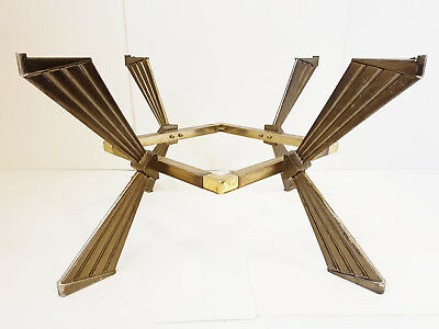 Very Chic Base Table 1970 Metal Golden Vintage Seventies 70S 70's A 2 Levels