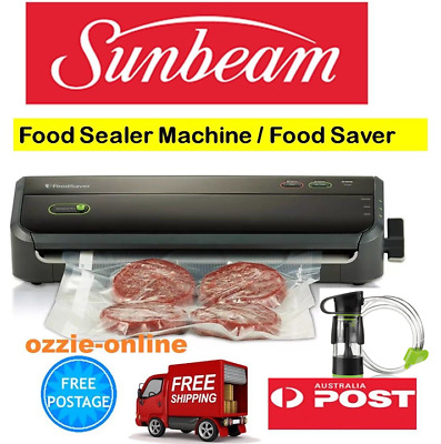 Sunbeam Food Saver Storage Sealer Machine Vacuum Sealing Freezer Meat Cryovac