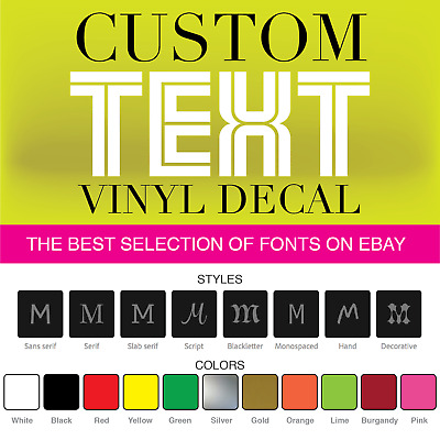 CUSTOM Vinyl Lettering Decal Personalized Sticker Window Wall Text
