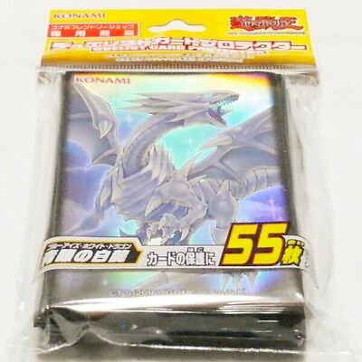 Yugioh Konami Official Card Sleeves, Blue-Eyes White Dragon Sleeves (55) Sealed
