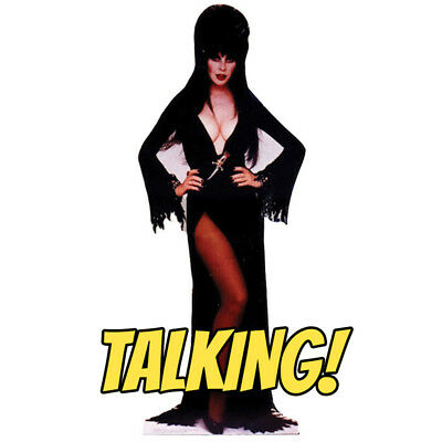 ELVIRA TALKING Mistress of the Dark CARDBOARD CUTOUT Standup Standee Poster F/S