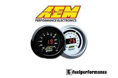 AEM Digital 52mm verstärkt Turbo Manometer - 30-35psi #30-4406