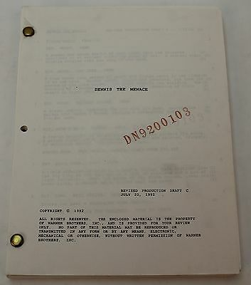 Dennis The Menace, 1992 Movie Script *with Lea Thompson from Back to the Future