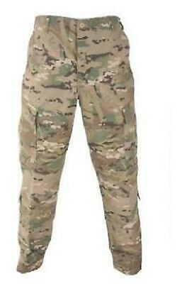 US Army Multicam FR ACU Defender OCP Pants Trousers Camo Made USA Large Long