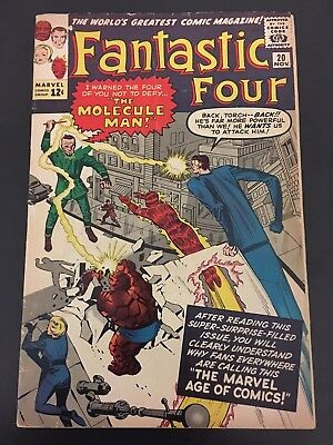 Fantastic Four # 20 vol 1  The Molecule Man  VG+ super scarce hot book !! Silver