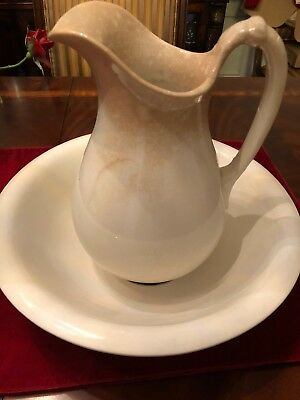 Antique Ironstone Pitcher and Bowl