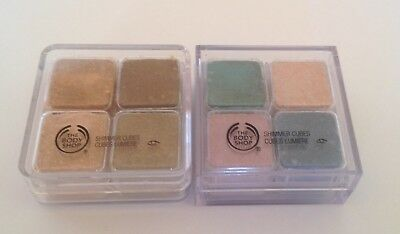BODY SHOP SHIMMER EYESHADOW CUBES x 2 ~ WARM 06 & MIXED 19 ~ BRAND NEW