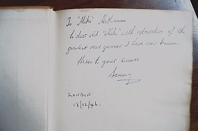 For Those Who Wait by WW2 RAF F/Lt S.L Berry DFC awarded,SIGNED 1946 1st Ed book