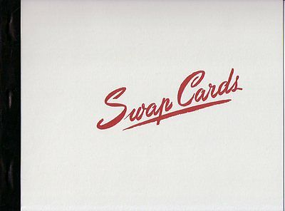 Playing Swap Cards  PAPER ALBUM holds 120 cards un-used NEW